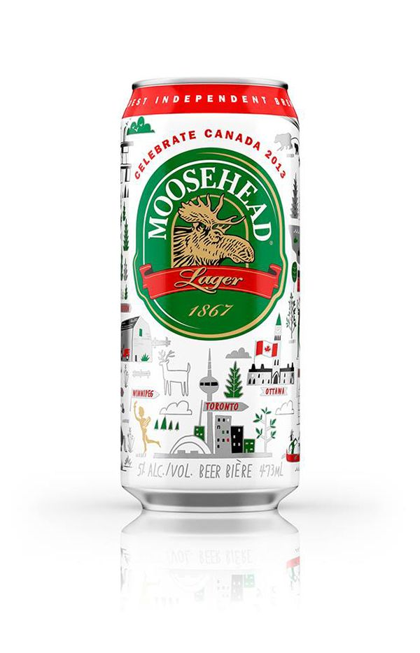 Limited Edition Moosehead Canada day packaging