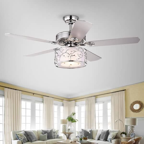 Swerl 52 Inch 1 Light Lighted Ceiling Fan With Multi Layered Shade