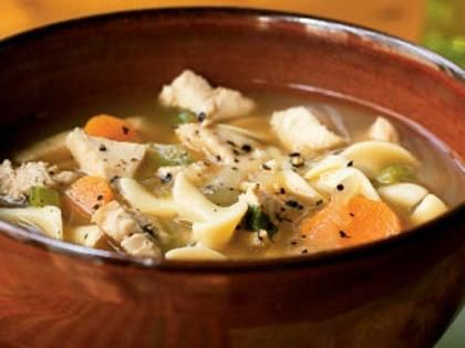 Turkey Noodle Soup | Nothing warms the heart quite like a hot bowl of soup on a cold night. This classic collectionincludes a recipe for every palate, and they're all quick and easy suppers for busy weeknights.