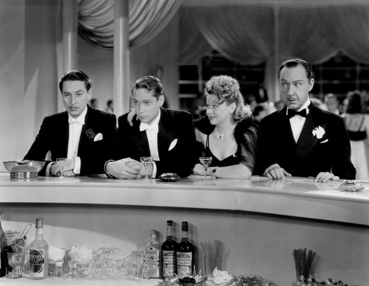 Reginald Gardiner, Franchot Tone, Franciska Gaal and Franklin Pangborn The Girl Downstairs 1938 Directed by Norman Taurog