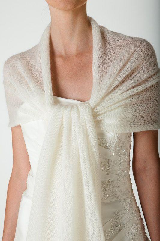 Enveloppement de mariage Etole tricoté dans par Weddingbolero