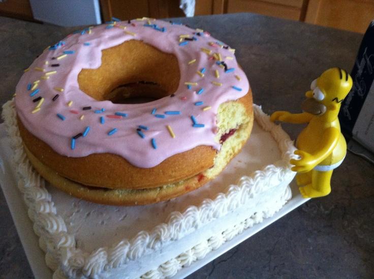 Homer Simpson Giant Donut Cake Cake Giant Donut Pretty