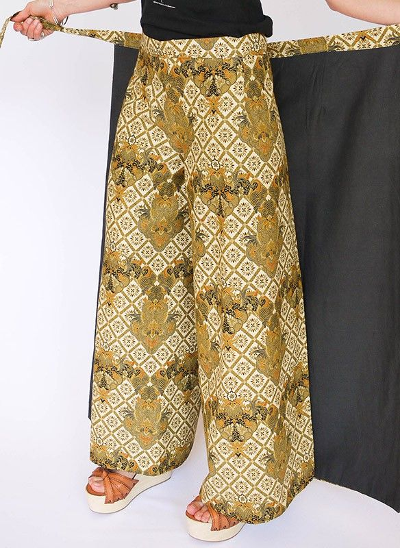 batik wikkelbroek vintage