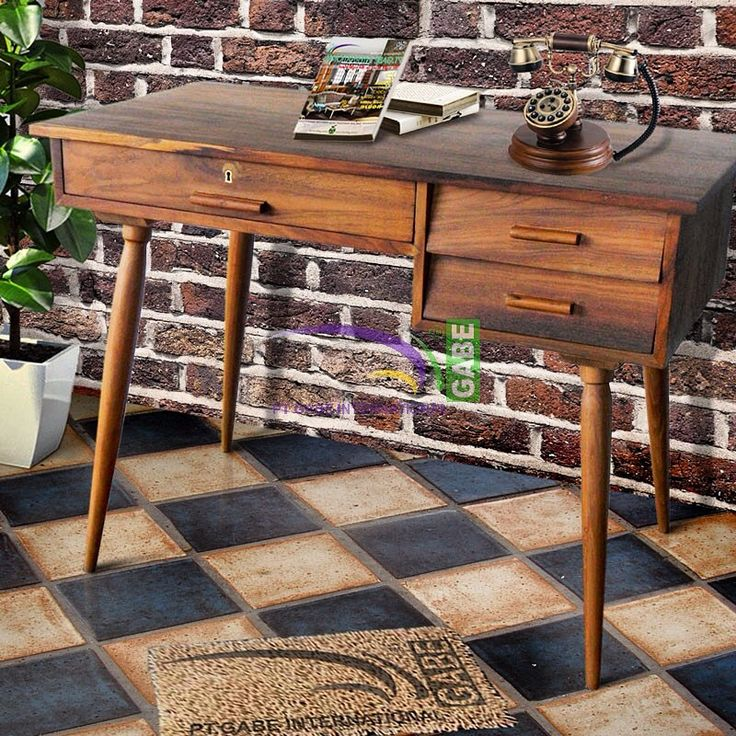 Writing desk vintage style made from silid teak wood ,,more collection please visit www.gabeart.com