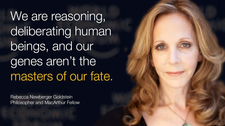 We are reasoning, deliberating human beings, and our genes aren't the masters of our fate. #wef15