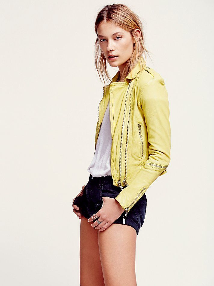 Free People Golden Moto Leather Jacket, €584.38