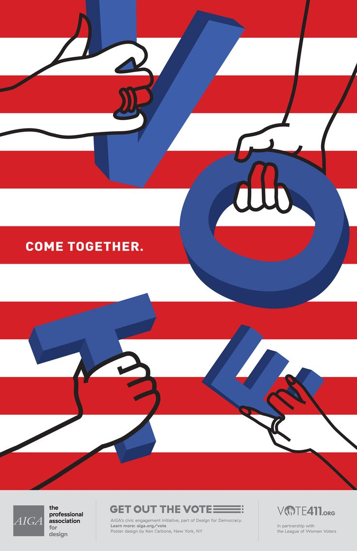 Poster design 1940 - Aiga Get Out The Vote Poster Campaign Looks To Activate U S Voters Design Week Design