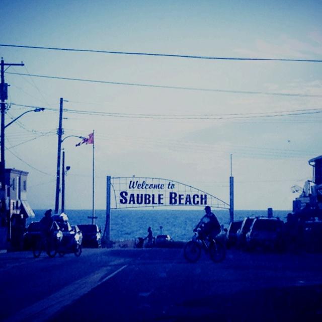 Driving into Sauble Beach, Lake Huron, Ontario Canada.