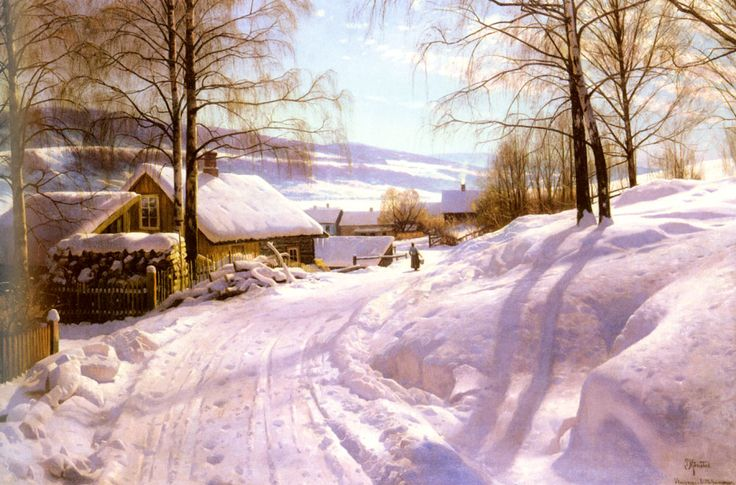 ON THE SNOWY PATH, BY PEDER MORK MONSTED