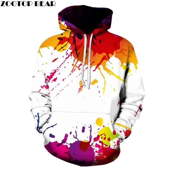 Splashed Paint 3D Hoodies Women Sweatshirts Men Pullover Plus Size Spring Autumn Causual Fashion Tracksuit Brand Quality Hoodie – Clothes