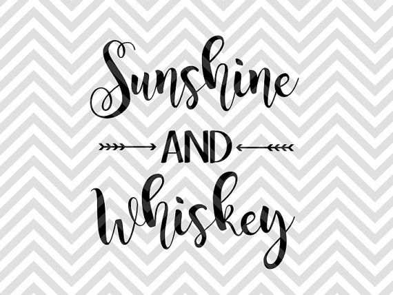 Sunshine and Whiskey koozie summer country SVG file - Cut File - Cricut projects - Silhouette projectsby KristinAmandaDesigns