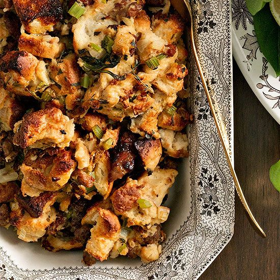 Buttermilk biscuit and sausage dressing really brings the best of the South together in one delectable side dish.