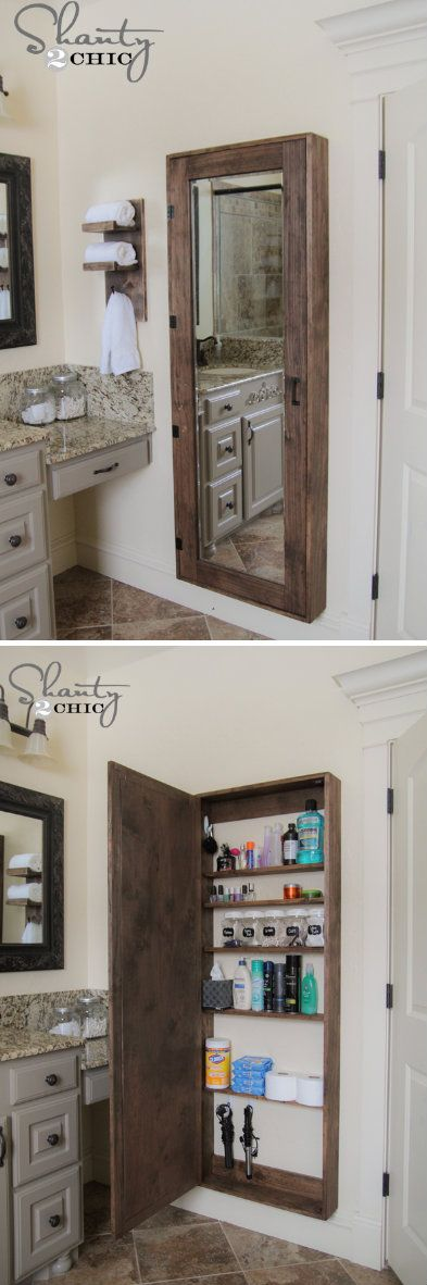 Bathroom Mirror Storage