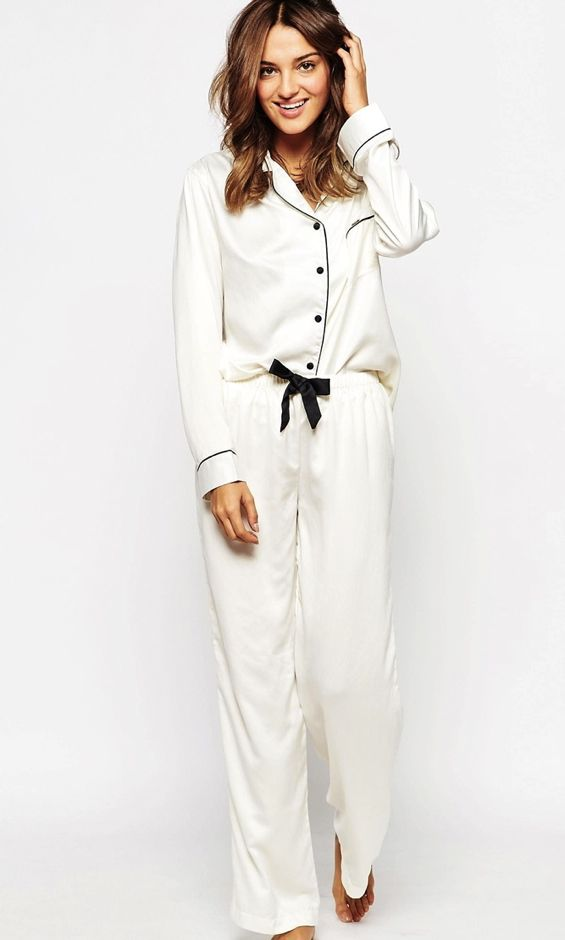 white-pajama-set