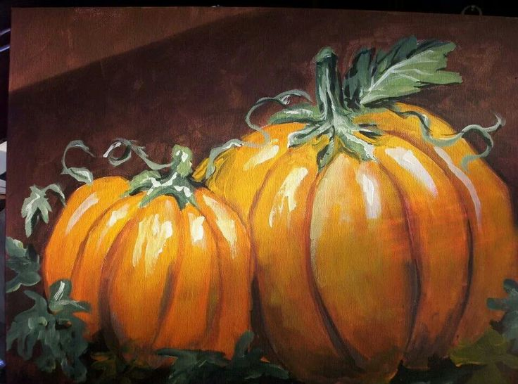 Pumpkin canvas painting