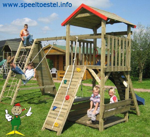speeltoestel speeltoren speelhuis schommel klimrek
