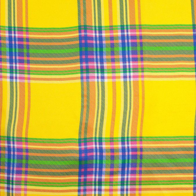 Ralph Lauren Multicolor Plaid Silk Shantung Mood Fabrics