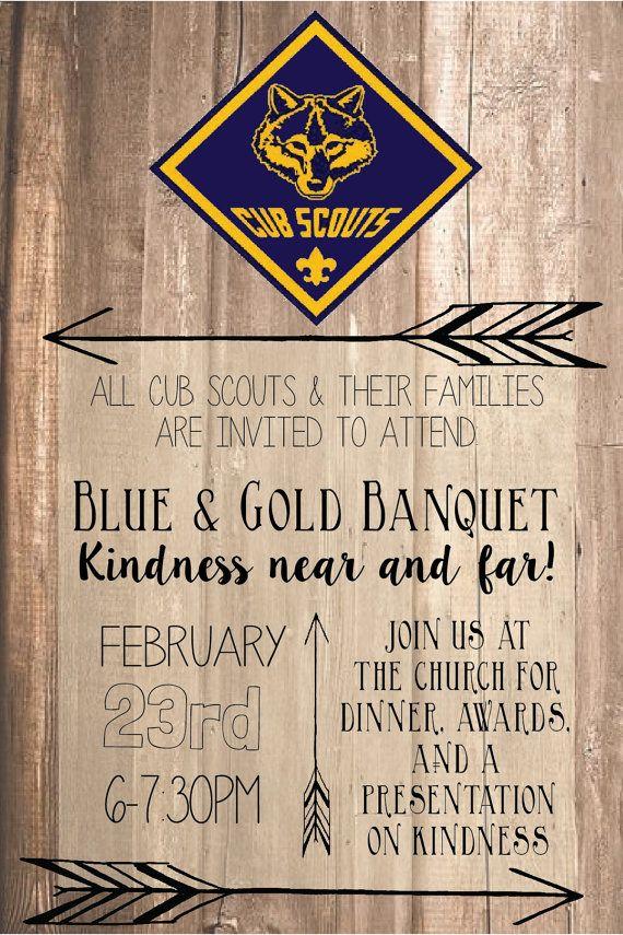 64 best blue gold banquet dawn has the cricut scout cartridge blue gold banquet cub scout invitation por prettierparty en etsy stopboris Image collections