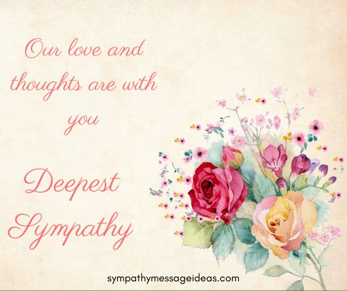 Love and Sympathy Image   Greeting Card Messages ...