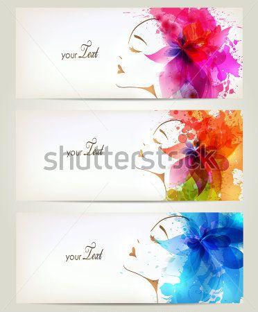 Conjunto DE Mulheres DE Moda Bonito Com Flores Coloridas Abstratas E imagem vetorial - Clipart.me