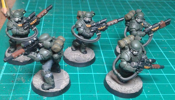 Militarum Tempestus with Eisenkern Helmets from Dreamforge.