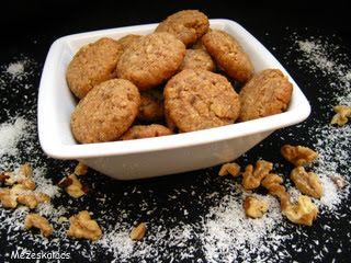 Mézeskalács konyha: Diós-kókuszos keksz