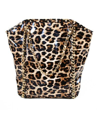 Take a look at this Natural Magnified Leopard Tote by Amrita Singh on #zulily today! $29 !!