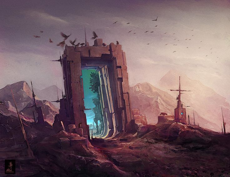 The door 1, Eric Basiletti on ArtStation at https://www.artstation.com/artwork/the-door-1