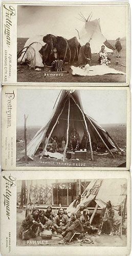 Three Cabinet Cards of Pawnee Indians by Prettyman, (2004 Spring Historical Americana, May 20, 21)