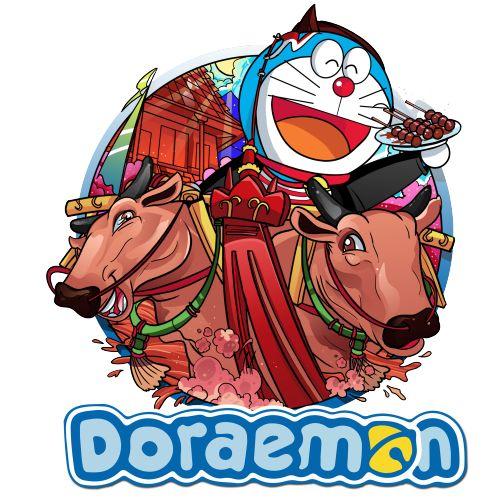 Dengan pintu kemana sajanya Doraemon menjelajah indonesia salah satunya Doraemon menunjungi salah satu tempat yaitu pulau Madura, disana Doraemon mengalami pengalaman yang sangat luarbiasa Doraemon berkesempatan menaiki karapan sapi dan mencoba kuliner khas Madura yaitu sate :D #Kaos #Desain #Baju #Design #TShirt #Doraemon #Rupawa