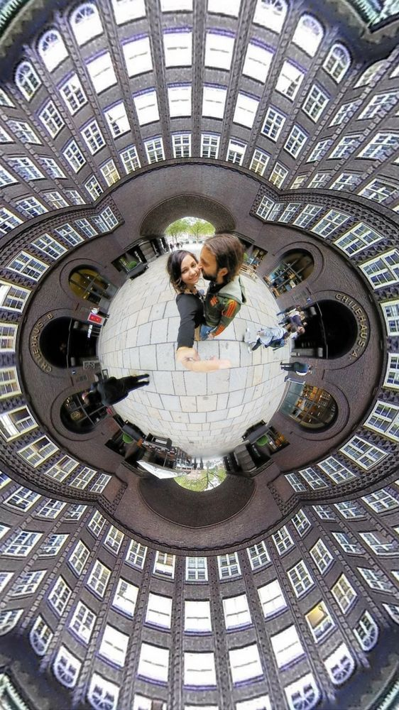 Tiny planet shot made using Insta360 Nano - things to do in Hamburg, Germany