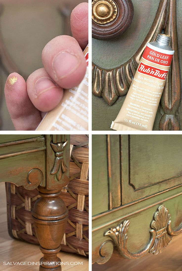 How to Add Beautiful Metallic Details with Rub'nBuff | The Small Details & Rub'n Buff Magic - Salvaged Inspirations