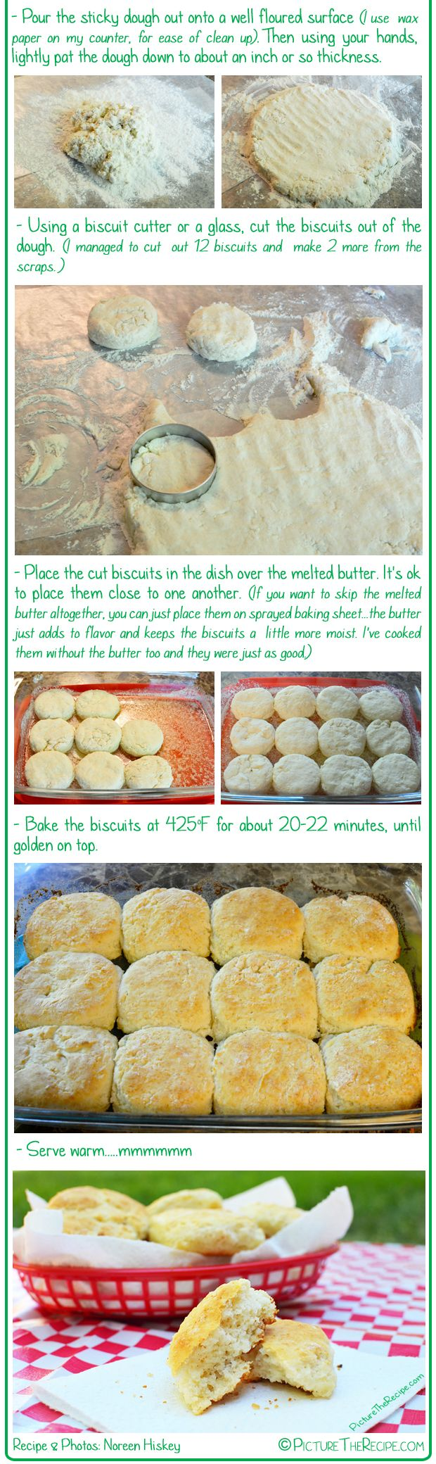7Up (or Sprite) Biscuits - directions to make 12 (+ a couple more), slightly thinner, from the same recipe =)