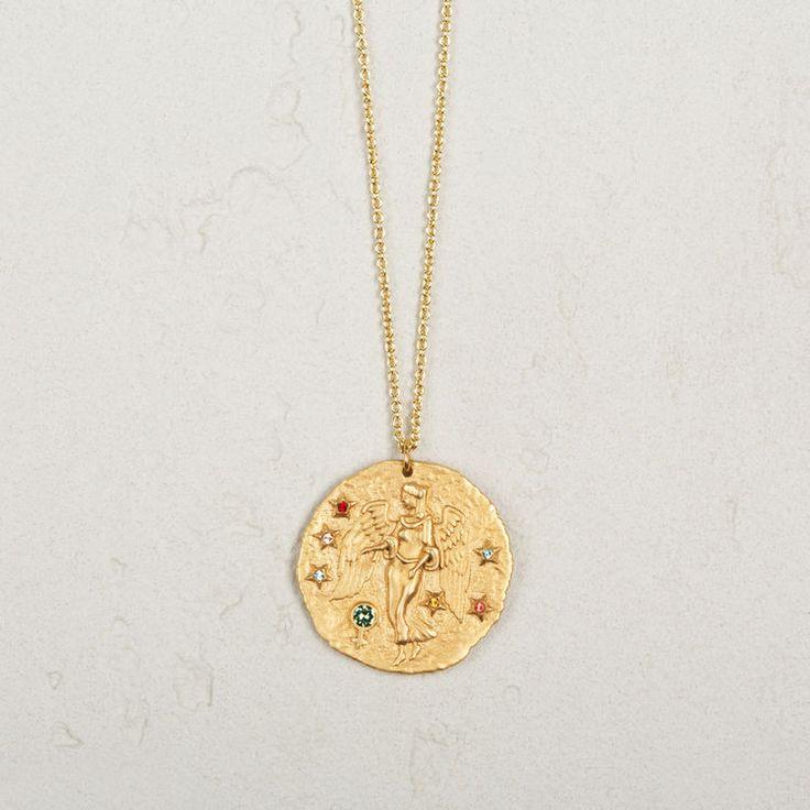 Virgo Zodiac Sign Necklace, £59, Maje