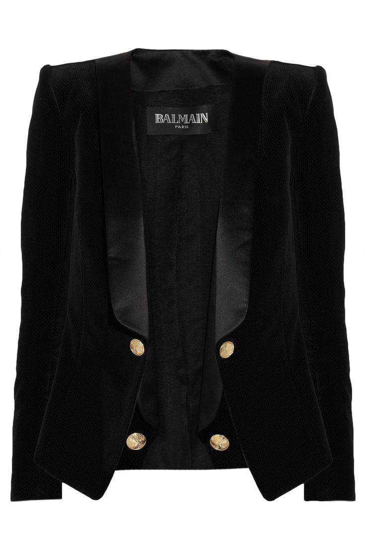 Balmain | Velvet and satin blazer   €1,759