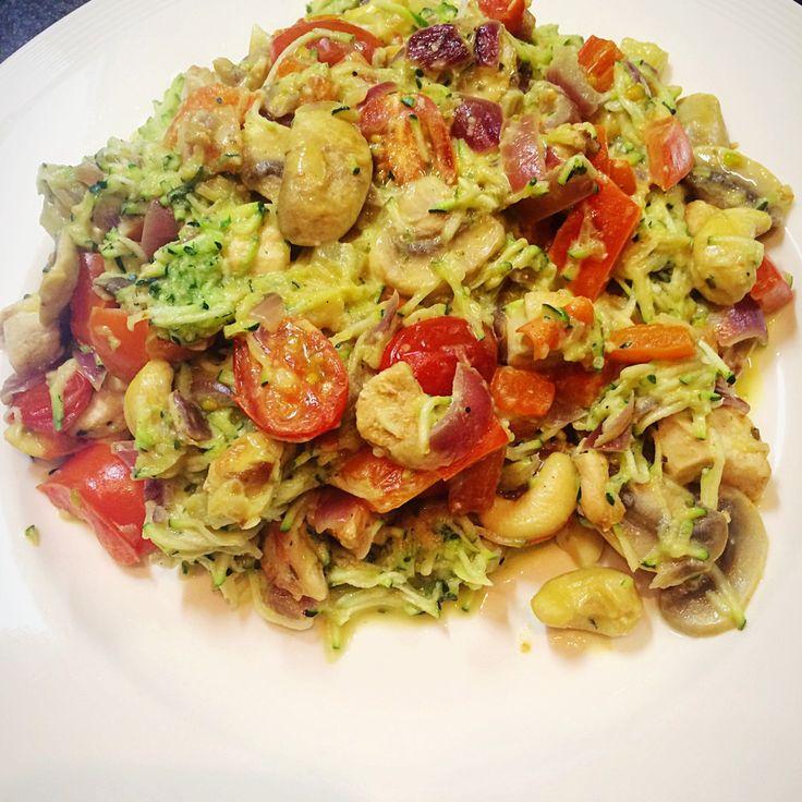 ❤️ Courgette pasta Boursin Pesto