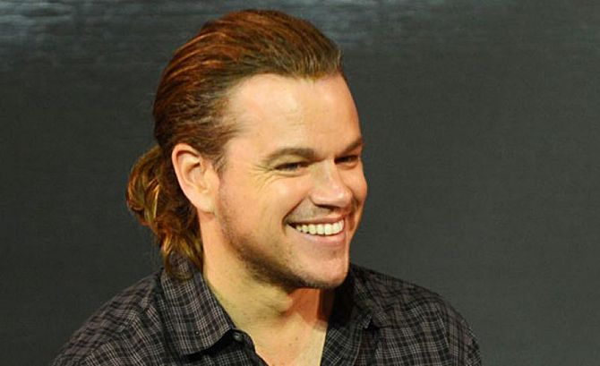 Matt Damon Stuns With Man Ponytail At 'The Great Wall' Press Conference .. http://www.inquisitr.com/2222015/matt-damon-stuns-with-man-ponytail-at-the-great-wall-press-conference/