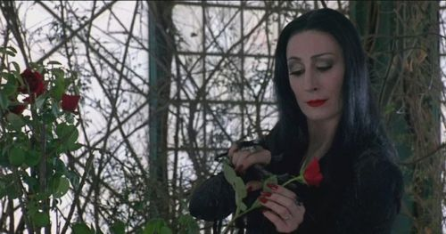 Мартишия Адамс из «Семейки Адамсов». Актриса — Анжелика Хьюстон