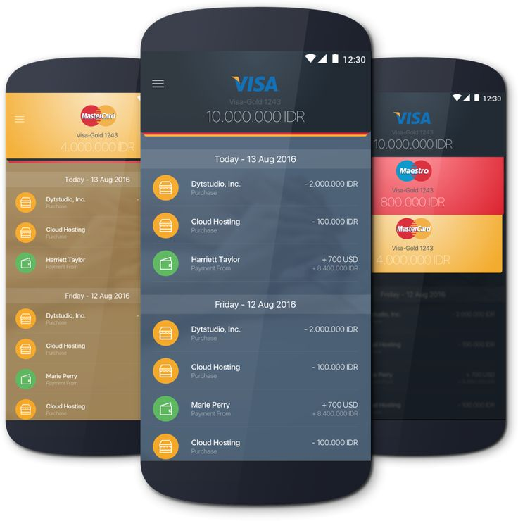 Mobile payment app concept, with clean design and navigation flow. crafted using flat design concept.