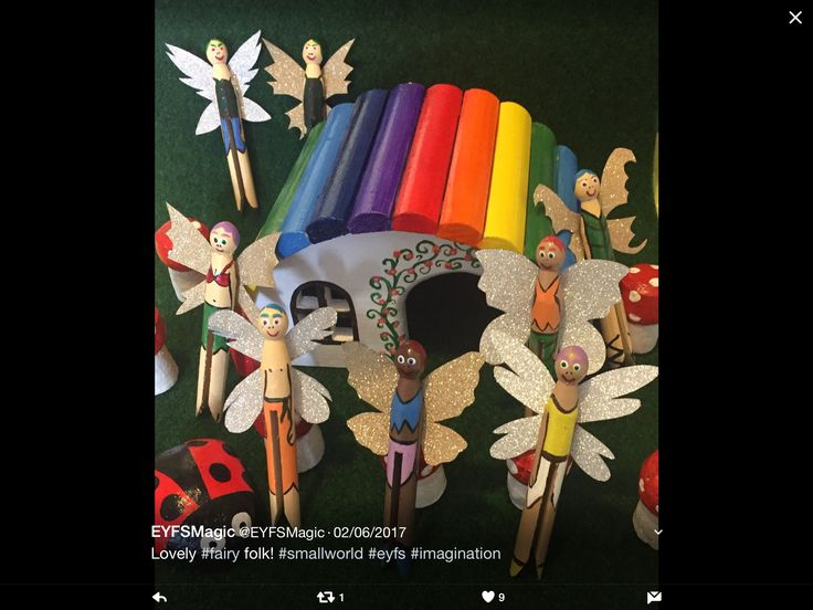 Fabulous fairies on pegs