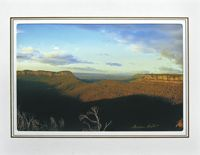 """Photo enlargement of The Blue Mountains, measuring 8"""" x 6"""" in a soft frame. You can buy this photo enlargement for $15.95 delivered. www.theshortcollection.com.au/page/photo-enlargement-small"""