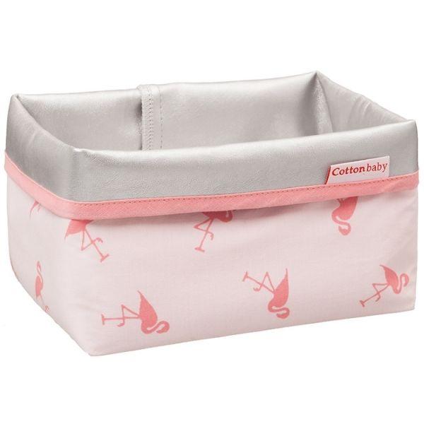 flamingo cottonbaby   Cottonbaby Flamingo Roze Mandje   MamaLoes Babysjop