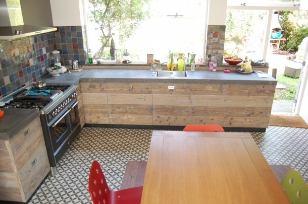 stijgerhout keuken met beton blad  Keuken  Pinterest  Doors, Google ...