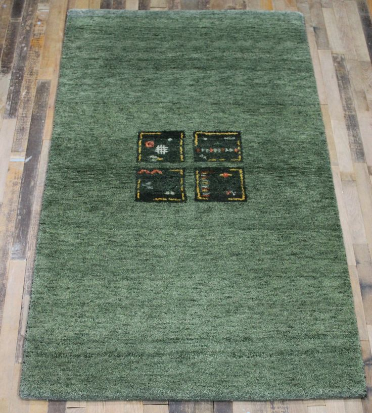 Persian Rug 3x5 Rug Gabbeh Rug. Beautiful Green Gabbeh in New Condition! ~Gypsy Rugs (344) by GypsyRugs on Etsy