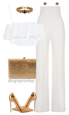 """""""Chic & Sleek"""" by highfashionfiles ❤ liked on Polyvore featuring Dolli, Yves Saint Laurent, Zara, Mawi, Vera Bradley and Christian Louboutin"""