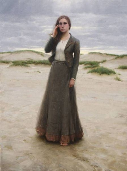 "The Lonely Maiden, by Jeremy Lipking. Beautiful. This painting was used as the "" star"" in the movie The Maiden Heist. Lovely work and fun movie."