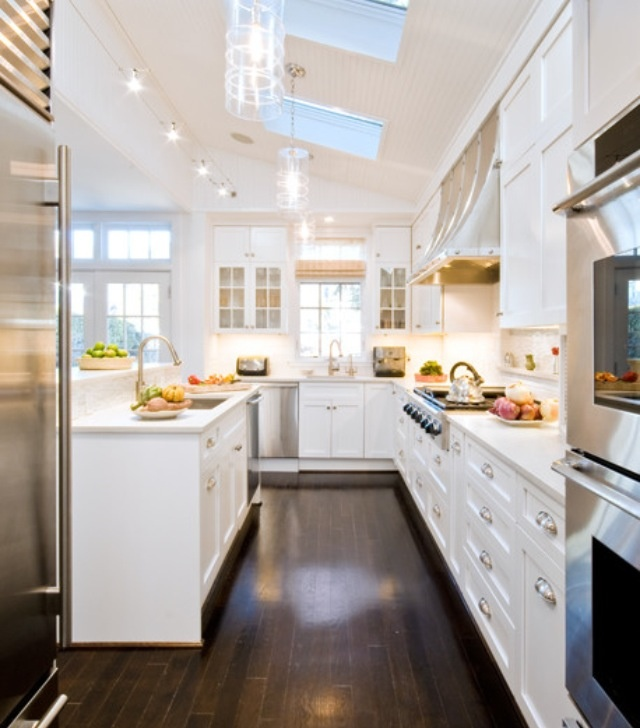 amazing white kitchens with dark floors pictures - home design