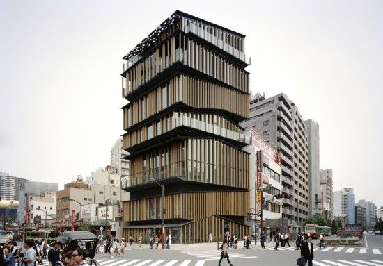 Asakusa Culture and Tourism Center by Kengo Kuma: Kengo, Tourism Center, Kengokuma, Tokyo Japan, Kuma Association, Centro Culture, Timber Architecture, Culture Tourist, Asakusa Culture