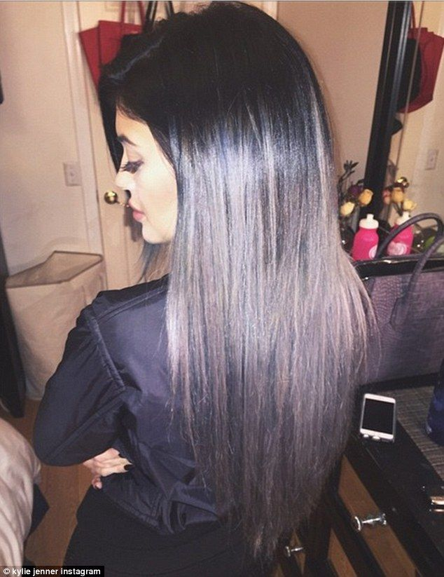 'Happy Haloween'! After a 12-hour hair appointment, Kylie Jenner revealed her new extensions with an Instagram photo http://dailym.ai/1ttibwt