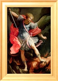 The Archangel Michael Defeating Satan Giclee Print by Guido Reni - by AllPosters.ie